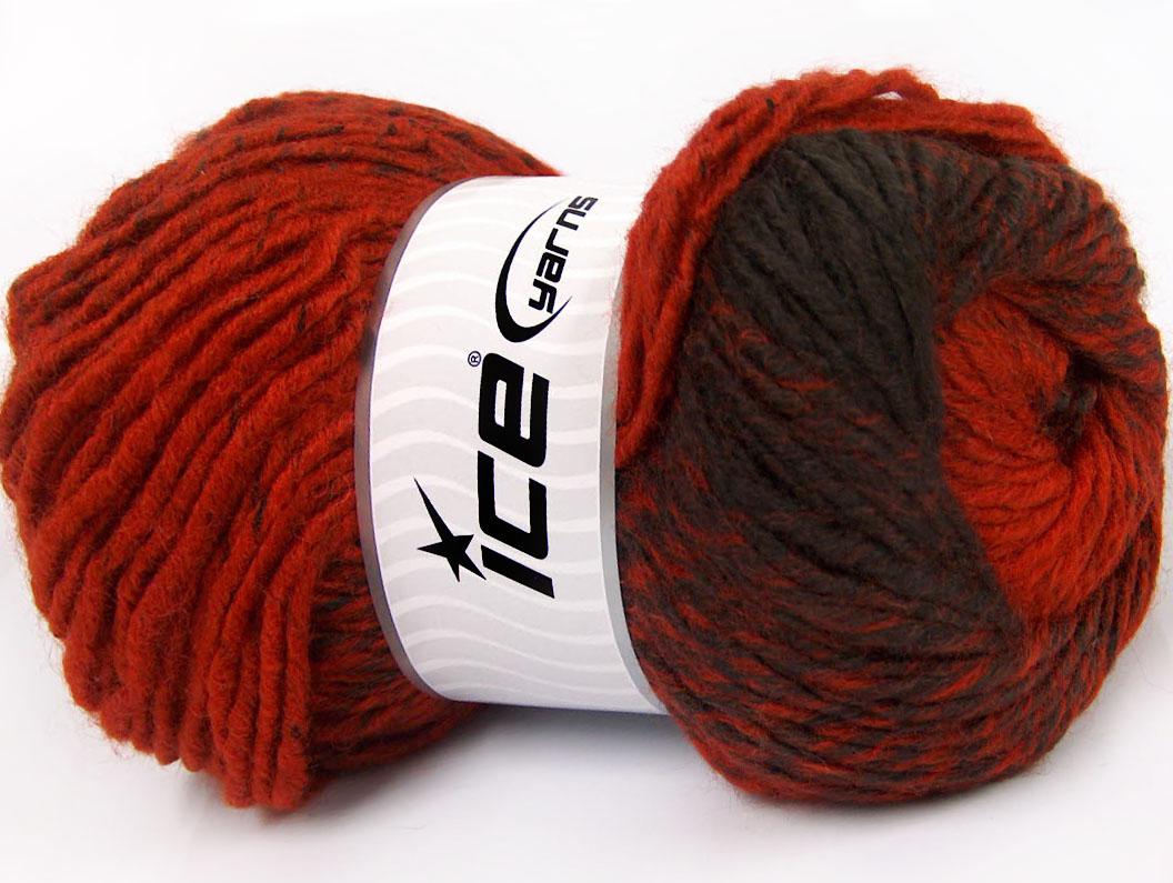 Lot of 4 x 100gr Skeins Ice Yarns EYELASH 100GR Hand Knitting Yarn Copper