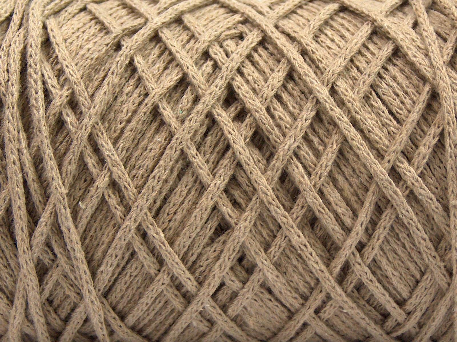 Ice Yarns SMOOTH FUR Hand Knitting Yarn Beige White 100 gr 90 m